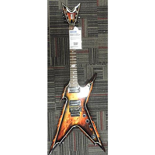 Dean Dimebag Razorback Floyd Rose Solid Body Electric Guitar Flames