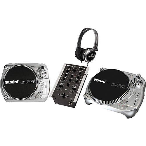 Gemini Direct Drive Turntable DJ Package