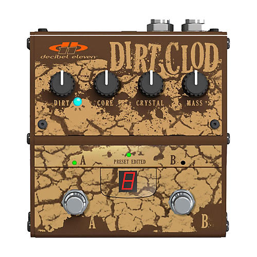 Decibel Eleven Dirt Clod Analog Overdrive-Distortion Guitar Effects Pedal