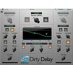 Dirty Delay for AAX/AU/VST - Software Download (Win/Mac, Native Only)