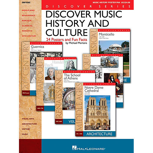 Hal Leonard Discover Music History And Culture - Set Of 24 Posters and Fun Facts-thumbnail