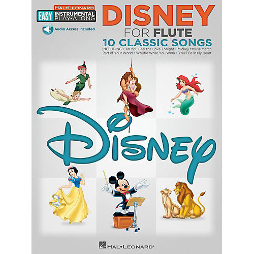 Hal Leonard Disney - Flute - Easy Instrumental Play-Along Book with Online Audio Tracks-thumbnail