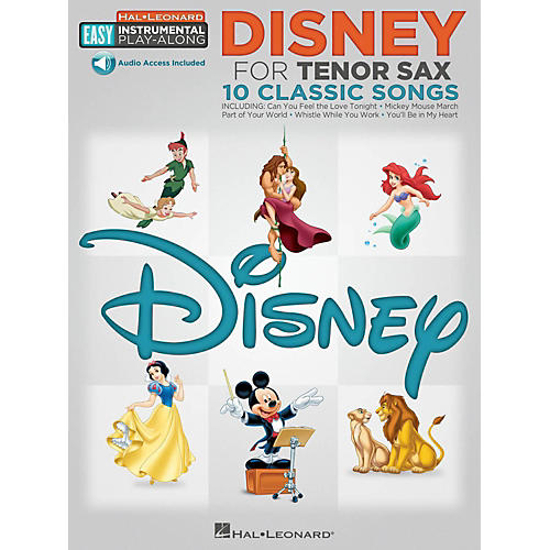Hal Leonard Disney - Tenor Sax - Easy Instrumental Play-Along Book with Online Audio Tracks-thumbnail