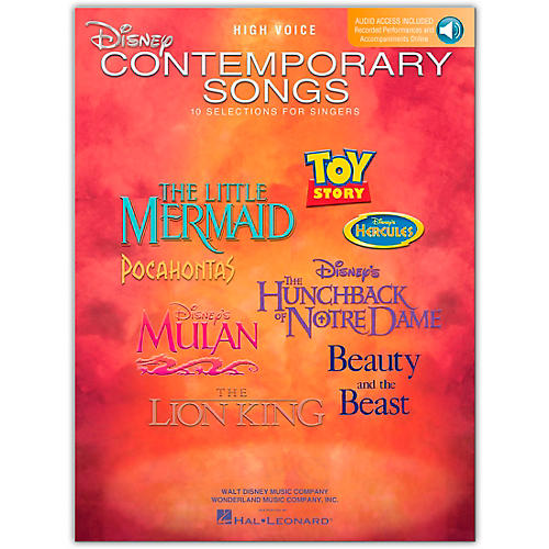 Hal Leonard Disney Contemporary Songs for High Voice Book/CD