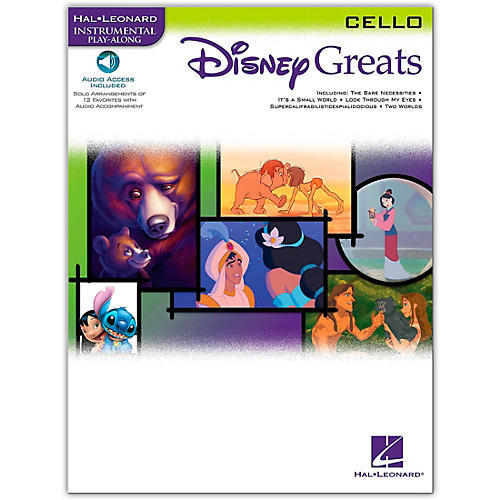 Hal Leonard Disney Greats for Cello Book/Online Audio Instrumental Play-Along