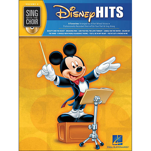 Hal Leonard Disney Hits - Sing with The Choir Series Vol . 8 Book/CD