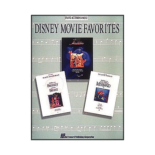 Hal Leonard Disney Movie Favorites Piano Accompaniment for Instrumental Solo Songbooks