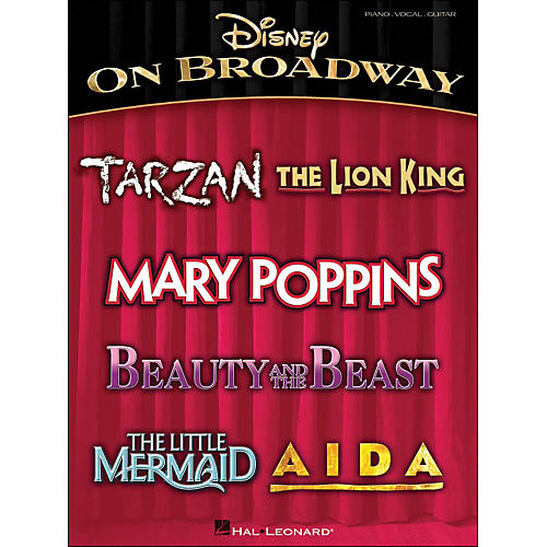 Hal Leonard Disney On Broadway arranged for piano, vocal, and guitar (P/V/G)