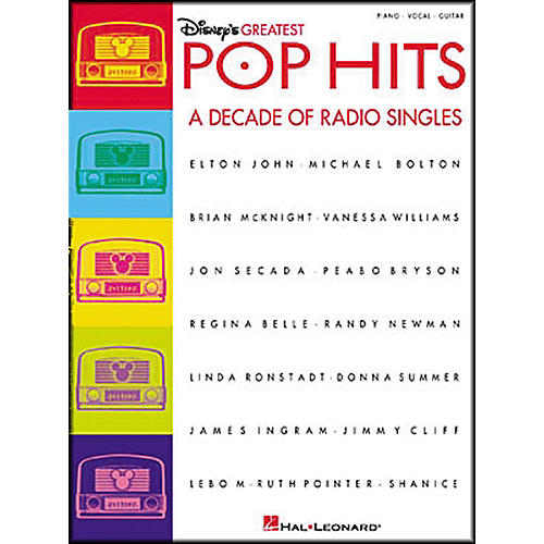 Hal Leonard Disney's Greatest Pop Hits Piano, Vocal, Guitar Songbook-thumbnail