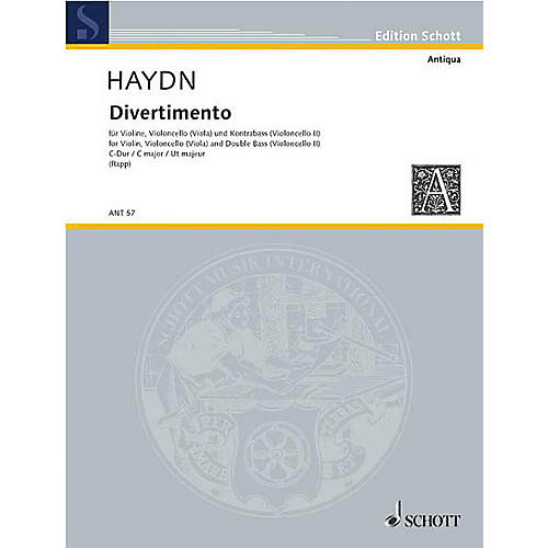 Schott Divertimento C Major (Set of Parts) Schott Series by Johann Michael Haydn Arranged by Eugen Rapp