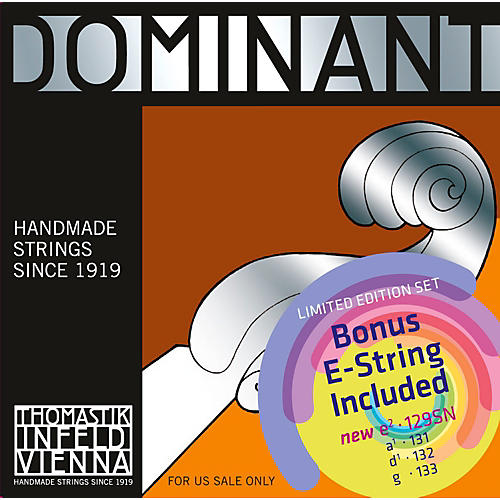 Thomastik Dominant Violin Value Pack with Tin-Plated E String