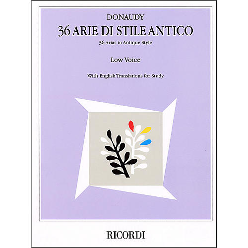 Hal Leonard Donaudy - 36 Arie Di Stile Antico for Low Voice-thumbnail