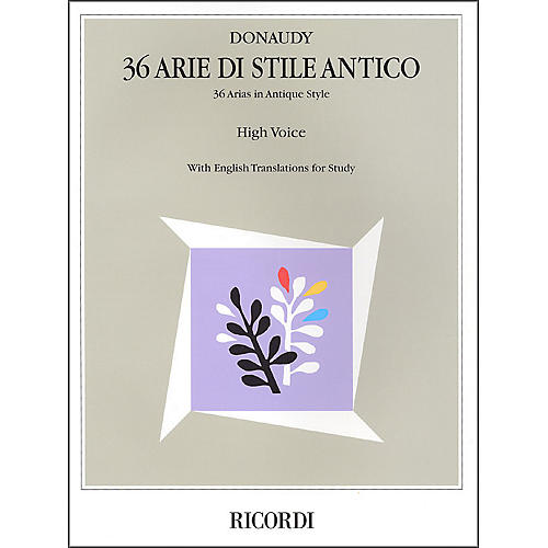 Hal Leonard Donaudy:  36 Arie Di Stile Antico for High Voice-thumbnail
