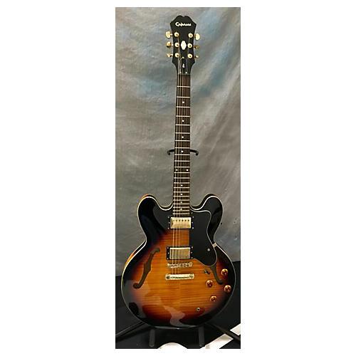 Epiphone Dot Deluxe Flametop Hollow Body Electric Guitar-thumbnail
