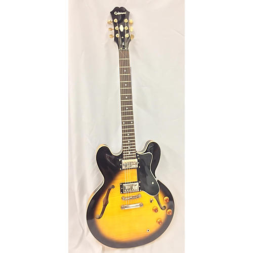 Epiphone Dot Deluxe Flametop Hollow Body Electric Guitar-thumbnail