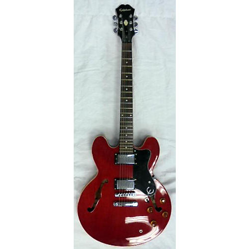 used epiphone dot hollow body electric guitar cherry guitar center. Black Bedroom Furniture Sets. Home Design Ideas