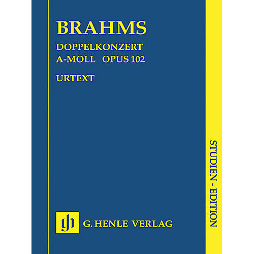 G. Henle Verlag Double Concerto A minor Op. 102 (Study Score) Henle Study Scores Series Softcover by Johannes Brahms