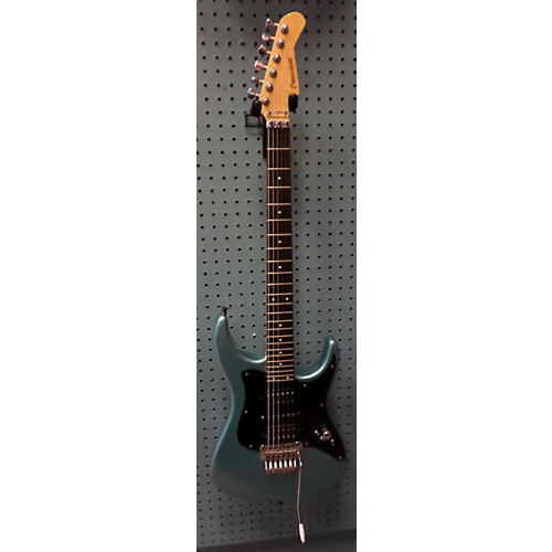 Fernandes Double Cut Solid Body Electric Guitar Metallic Blue