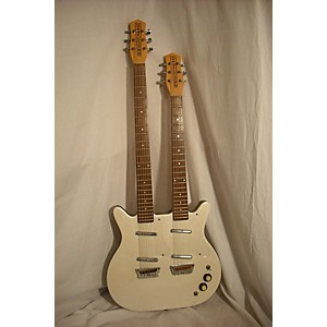 Pre-owned Danelectro Double Neck Standard/Baritone Solid Body Electric Guitar by Danelectro