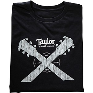 Taylor Double Neck T-Shirt Black by Taylor