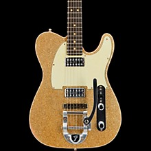 Fender Custom Shop Double TV Jones Telecaster Relic Electric Guitar with Bigsby Gold Sparkle