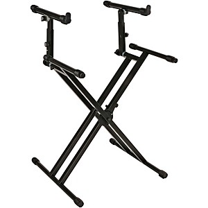 Quik-Lok Double-Tier Double-Braced Keyboard Stand by Quik Lok