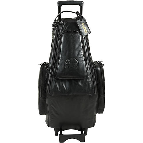 Gard Doubler's Alto and Soprano Saxophone Wheelie Bag 124-WBFLK Black Ultra Leather