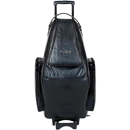 Gard Doubler's Tenor and Soprano Saxophone Wheelie Bag 125-WBFLK Black Ultra Leather