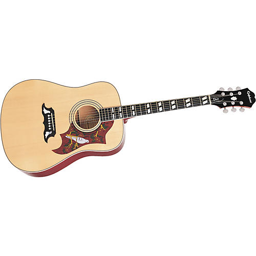 Epiphone Dove Acoustic Guitar Natural Chrome Hardware
