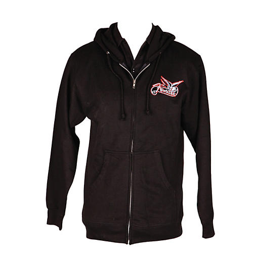 Fender Dove Zip-up Hoodie Black Small