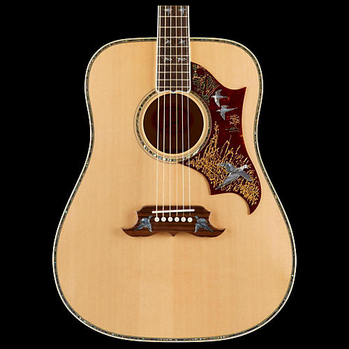 Gibson Doves In Flight Acoustic Guitar Transparent Blue