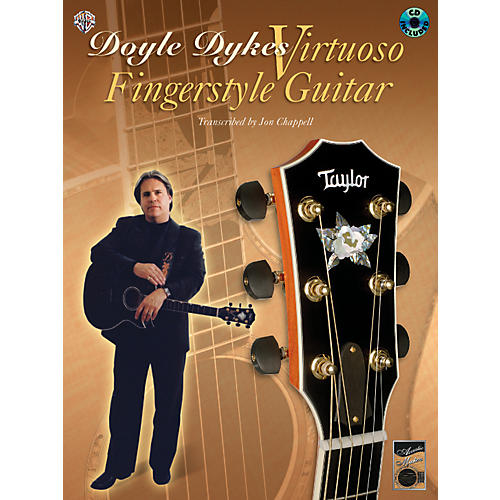 Alfred Doyle Dykes Virtuoso Fingerstyle Guitar (Book/CD)