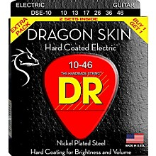 DR Strings Dragon Skin (2 Pack) Medium Coated Electric Guitar Strings (10-46)