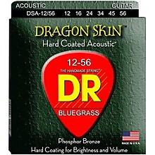 DR Strings Dragon Skin Clear Coated Acoustic Bluegrass Guitar Strings (12-56)