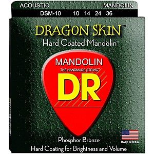 DR Strings Dragon Skin Clear Coated Mandolin Strings 10-14-24-36 by DR Strings
