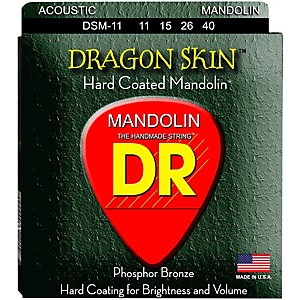 DR Strings Dragon Skin Clear Coated Mandolin Strings 11-15-26-40 by DR Strings
