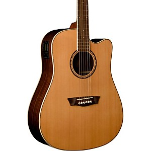 Washburn Dreadnaught Acoustic-Electric Solid Top Guitar by Washburn