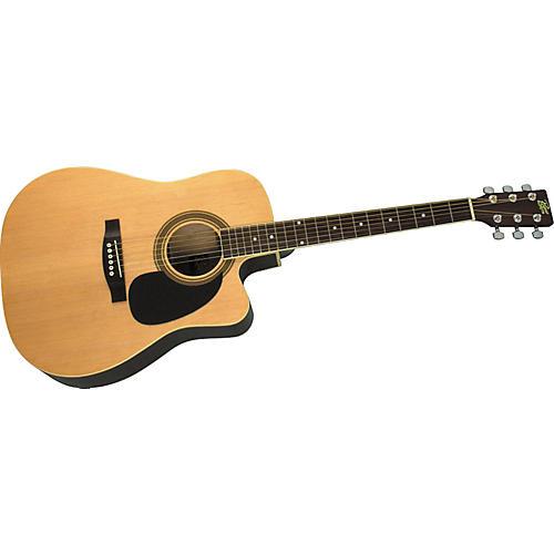 Rogue Dreadnought Cutaway Acoustic-Electric Guitar Natural