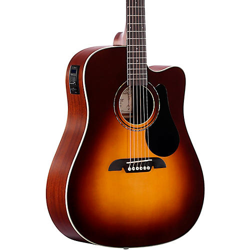 Alvarez Dreadnought Cutaway Acoustic-Electric Guitar Sunburst-thumbnail