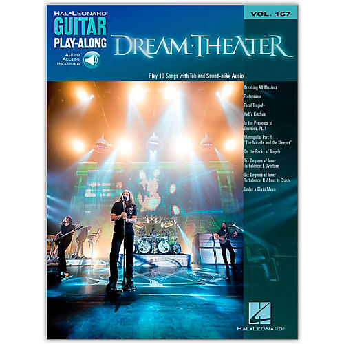 Hal Leonard Dream Theater - Guitar Play-Along Vol. 167 Book/Online Audio