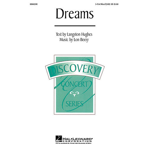 Hal Leonard Dreams 3-Part Mixed composed by Lon Beery