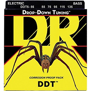 DR Strings Drop-Down Tuning 5 String Heavy Bass Strings by DR Strings