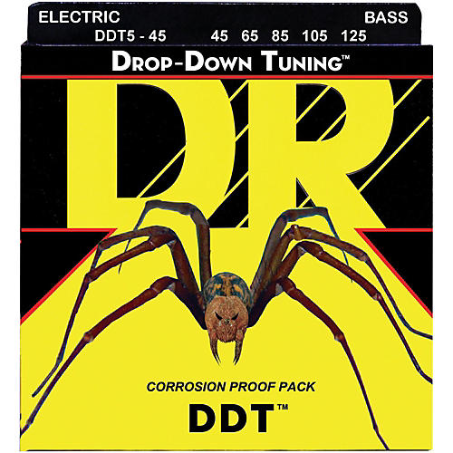 DR Strings Drop Down Tuning Medium 5-String Bass Strings (45-125)-thumbnail