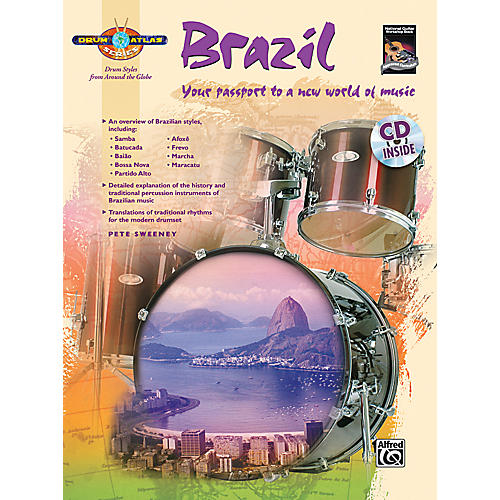 Alfred Drum Atlas: Brazil (Book/CD)-thumbnail