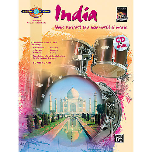 Alfred Drum Atlas: India (Book/CD)