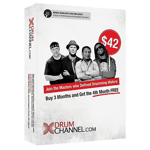 The Drum Channel Drum Channel for Drummers 3 Month Subscription with Extra Month Free!-thumbnail