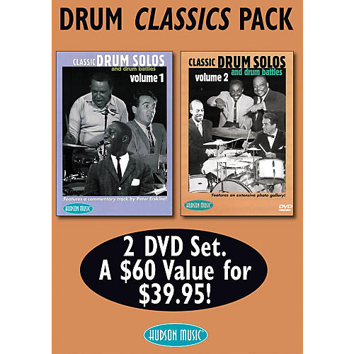 Hudson Music Drum Classics Pack 2 DVD Set - Classic Drum Solos and Drum Battles, Volumes 1 and 2