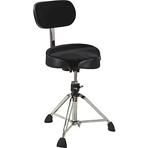 Gibraltar Drum Throne with Oversized Motorcycle Seat and Backrest by Gibraltar