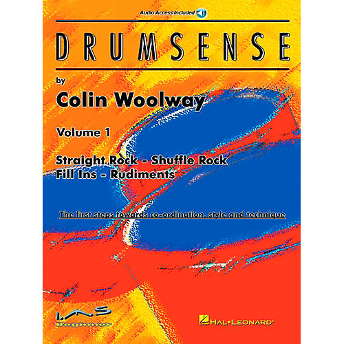 Hal Leonard Drumsense Volume 1 - Straight Rock, Shuffle Rock, Fill-Ins, And Rudiments Book/CD-thumbnail