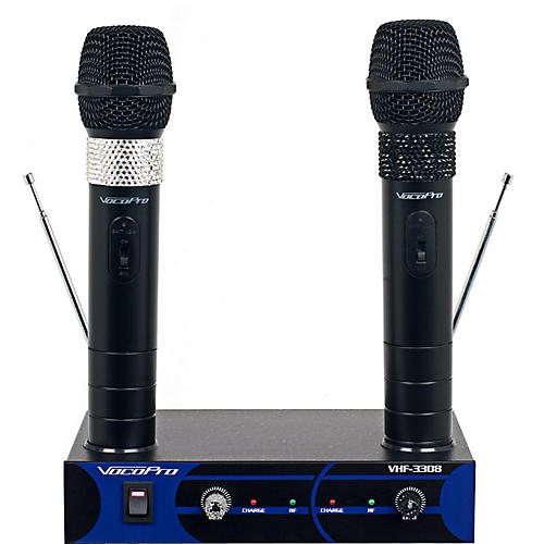 VocoPro Dual Channel VHF Wireless Microphone Set Band 3